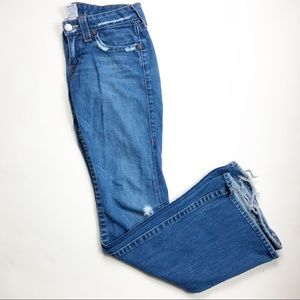 """True Religion """"Bobby"""" med. wash bootcut jeans."""